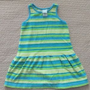 Circo striped swim cover dress